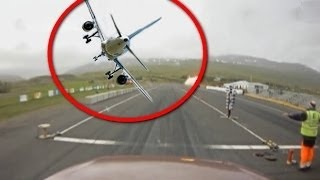 Footage of Aircraft Crash in Iceland