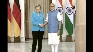 PM Modi welcome German Chancellor at Robert Bosch Engineering & Innovation Factory