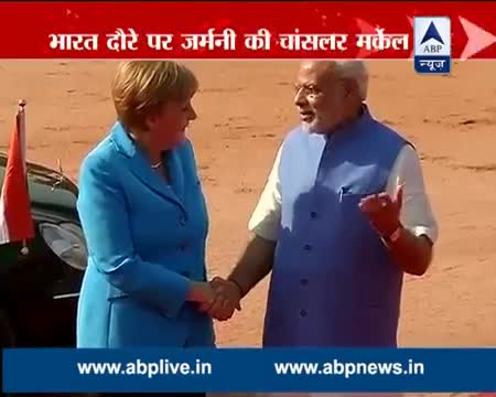 PM Modi welcomes Angela Merkel in India for a three-day visit