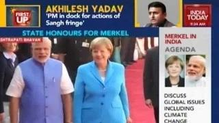 Modi Welcomes Angela Merkel In Delhi, To Discuss Indo-German Ties