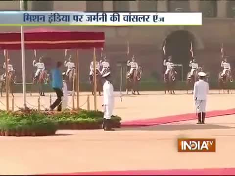 Ceremonial Reception of German Chancellor Angela Merkel at Rashtrapati Bhavan