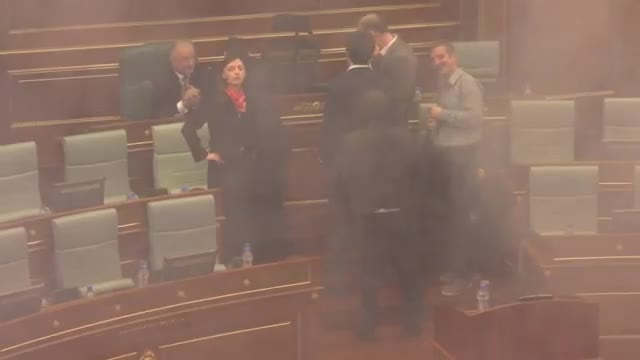 Kosovo Lawmakers Fire Teargas in Parliament