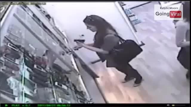 CCTV GIRL CAUGHT STEALING MOBILE PHONE!