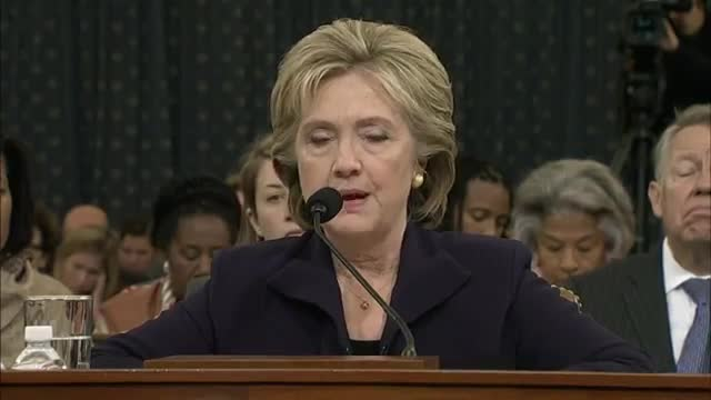 "Clinton: ""I Took Responsibility"" for Benghazi"