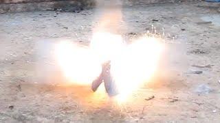 Diwali Dhamaka - Blowing a Cardboard Box into pieces using Diwali Cracker Bomb