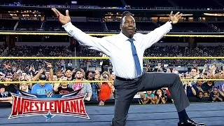 Booker T battles Brandon Carr in Spinaroonie-off: WrestleMania On-Sale Party, November 5, 2015 31