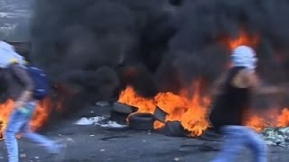 Raw: Palestinian Youth Clash With Israeli Forces