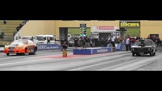 BLOWN vs TURBO DAVIES RACING & MOITS RACING SIDE BY SIDE 6 SEC PASS SYDNEY DRAGWAY