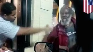 Cruel McDonald's prank: Drive-thru worker throws cold water at homeless man's face - TomoNews