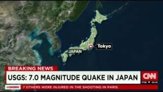 7.0 MAGNITUDE QUAKE IN JAPAN