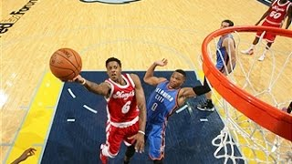 NBA: Russell Westbrook Duels Mario Chalmers