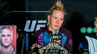 UFC 193: Post-fight Press Conference Ronda Rousey vs. Holly Holm