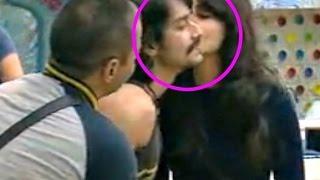 Bigg Boss 9 Kissing Scene - Mandana Karimi Kiss Rishabh Sinha
