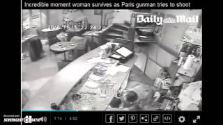 "Paris ""Terrorist Attack"" Hoax - CCTV Footage At Cafe Shows ""Terrorist"" Sparing Customers Lives"