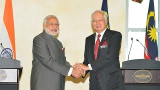 PM Modi & Prime Minister of Malaysia, Najib Razak at the Joint Press Statement in Malaysia