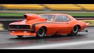 NITROUS CAMARO 7.80 @ 214 MPH ENDS UP SIDEWAYS INTO THE KITTY LITTER