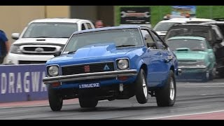 TRUE9Z V8 TORANA SETS A NEW PB 9.77 @ 137 MPH APSA GRAND FINAL