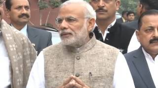 PM's statement to Media outside Parliament ahead of the Winter Session of 2015