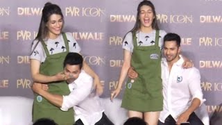Varun Dhawan And Kriti Sanon TOUCHY Moments At Dilwale New Song  Manma Emotion Jaage Launch