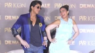 Shahrukh Khan And Kajol COMEDY At Dilwale Manma Emotion Jaage Song Launch