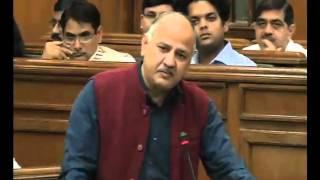Delhi Dy CM Manish Sisodia Presents most revolutionary education reform bill in Delhi assembly