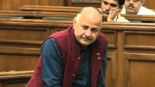 Delhi Dy CM Manish Sisodia discusses on Nagar Nigam in Delhi Assembly