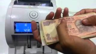 Value Note Counting Machine Along with the Fake Note Detection - PARAS-VALUE COUNTER