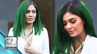 Kylie Jenner Goes Green, Debuts Green Hair Color | Like It Or Not??