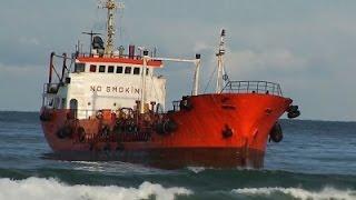 Diesel Tanker Runs Aground in Russia