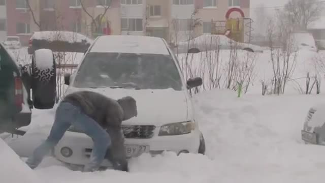 Heavy Snowfall Hits Parts Of Russia