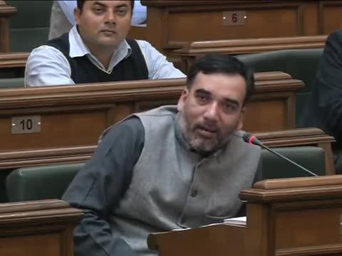 Delhi Transport Minister Gopal Rai Gives an Emotional Speech in Delhi Vidhan Sabha