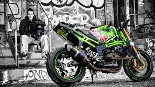 Amazing Stunt Riding Motorcycle Kawasaki 636 Street Bike
