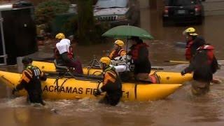 Raw: Oregon Flood Forces Evacuations
