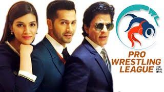 Shahrukh Khan ,Varun Dhawan,Kriti Sanon & Celebs Promote Wrestling | Pro Wrestling League