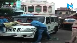 On Cam: Surat Police thrashes molesters in full glare