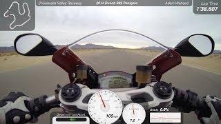 Ducati 899 Panigale Onboard -  L-H Shootout Lap