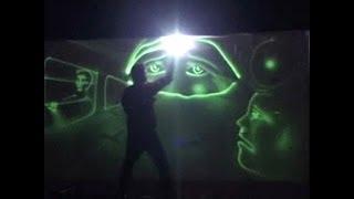 Radium Light Art (Painting) Performance By Vivek Patil based on India Pakistan Partition