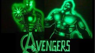 Avengers Light Art by Vivek Patil