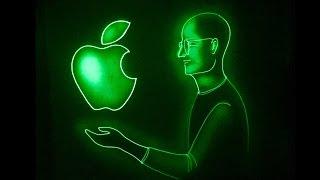 Inspiring Story of Steve Jobs in Light Art by Vivek Patil
