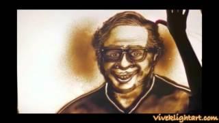 Tribute to pu la deshpande Sand Art by VIvek Patil