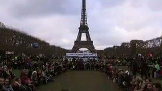Paris Protesters Denounce Climate Accord