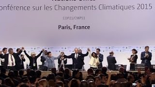Applause Greets Paris Climate Agreement