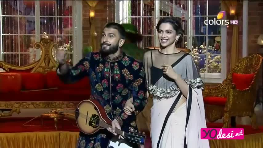 Comedy Nights with Kapil - <span class='mark'>Deepika Padukone</span> & Ranveer Singh promotes Deewani Mastani - 13th December 2015 - Part 4/4