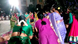 Bathukamma in our Malaysian Township Hyderabad