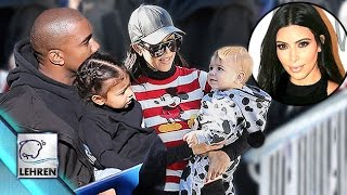 Kanye & North Celebrate Reign & Mason's Birthday At Disneyland Sans Kim Kardashian