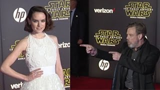 Stars Attend The Premiere Of Star Wars: The Force Awakens