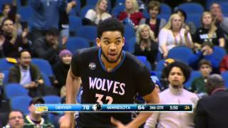 NBA: Karl-Anthony Towns With a Ferocious Put-Back Slam!