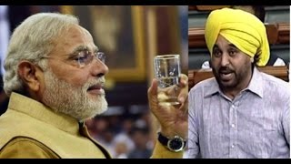 PM Modi offers glass of water to agitating AAP MP in LS