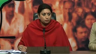 Kejriwal is accusing Jaitley to protect his corrupt officer: Smriti Irani