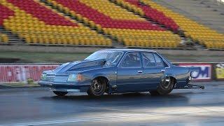 SCF RACE CARS TURBO V8 COMODORE 6.84 @ 213 MPH FULL THROTTLE FRIDAY